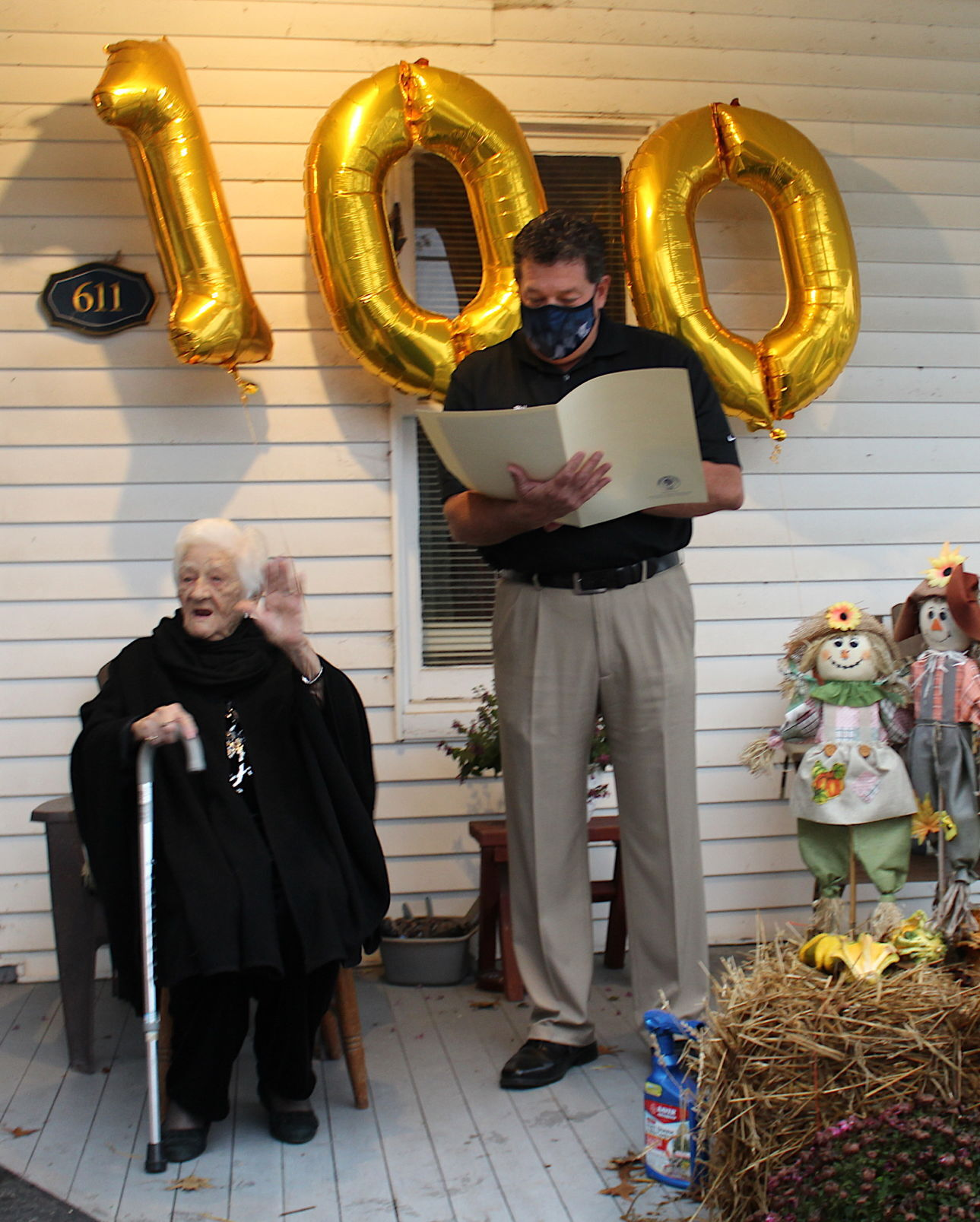 Clara Davidson 100th birthday, '20