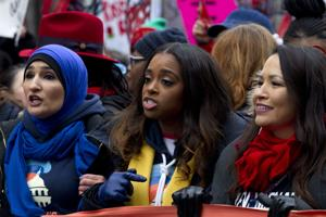A scaled-down, but still angry, Women's March returns