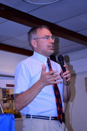 Andy Harris visits Cambridge Rotary