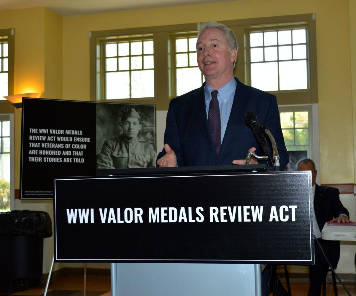 Sen. Chris Van Hollen announces WWI Valor Medals Review Act