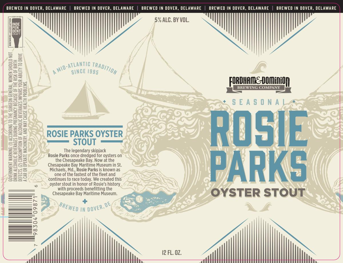 Fordham & Dominion announces re-release of Rosie Parks Oyster Stout