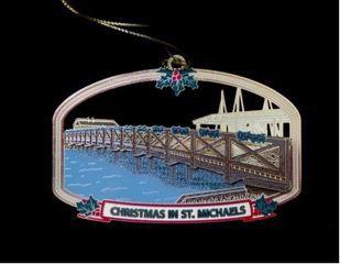 St. Michaels 2018 ornament features Honeymoon Bridge