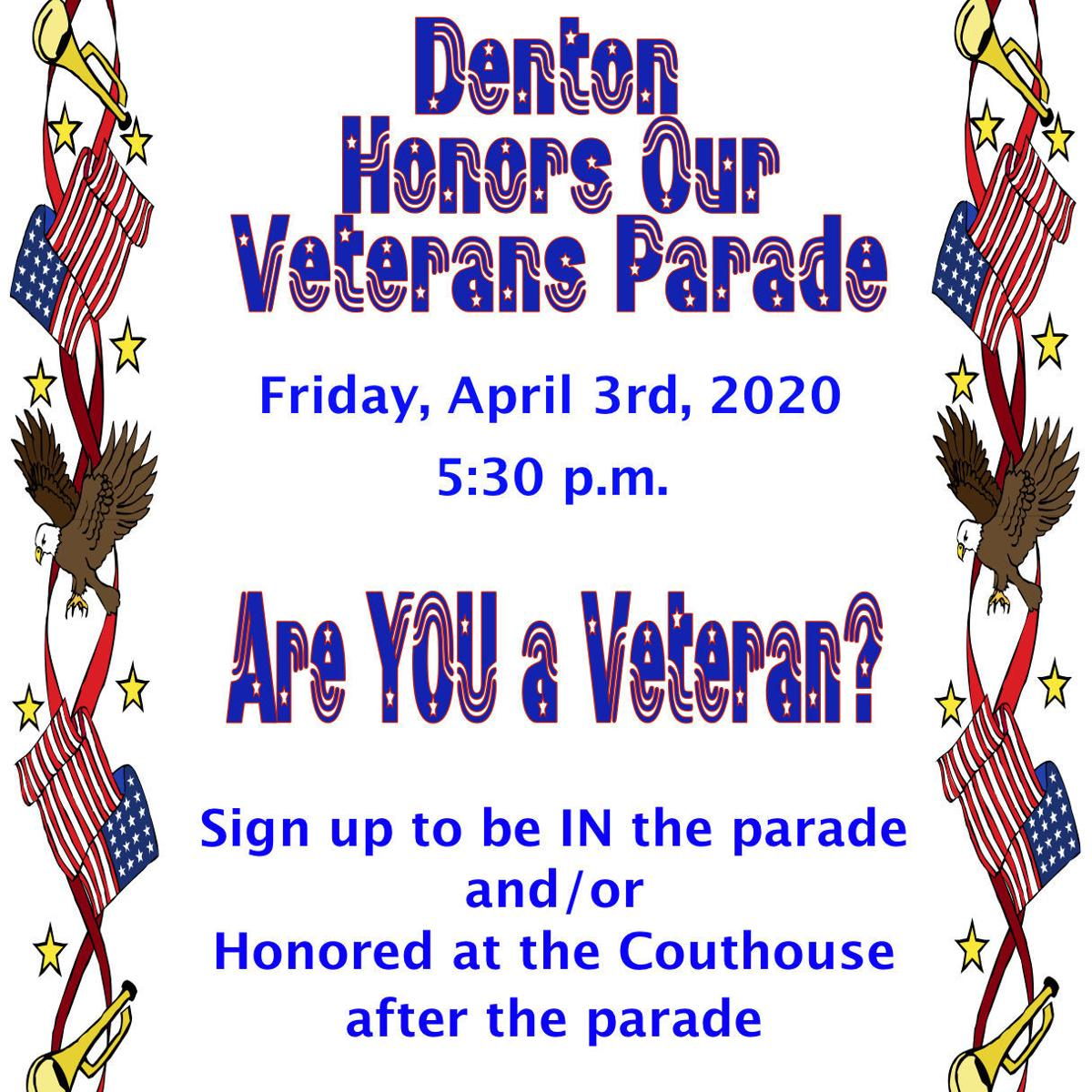 Denton to honor local veterans with parade