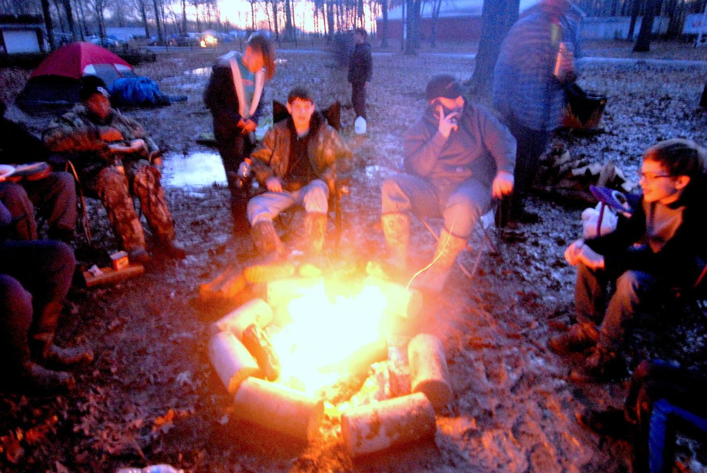 Roughing it at the Klondike Derby