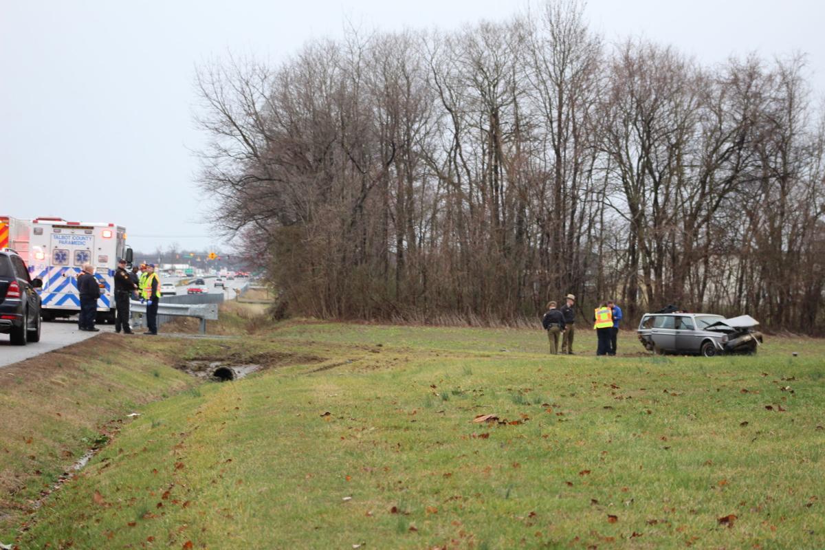 Rain-slick roads may have contributed to crash
