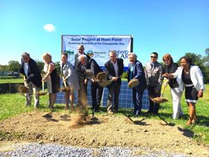 Horn Point Lab breaks ground on solar field