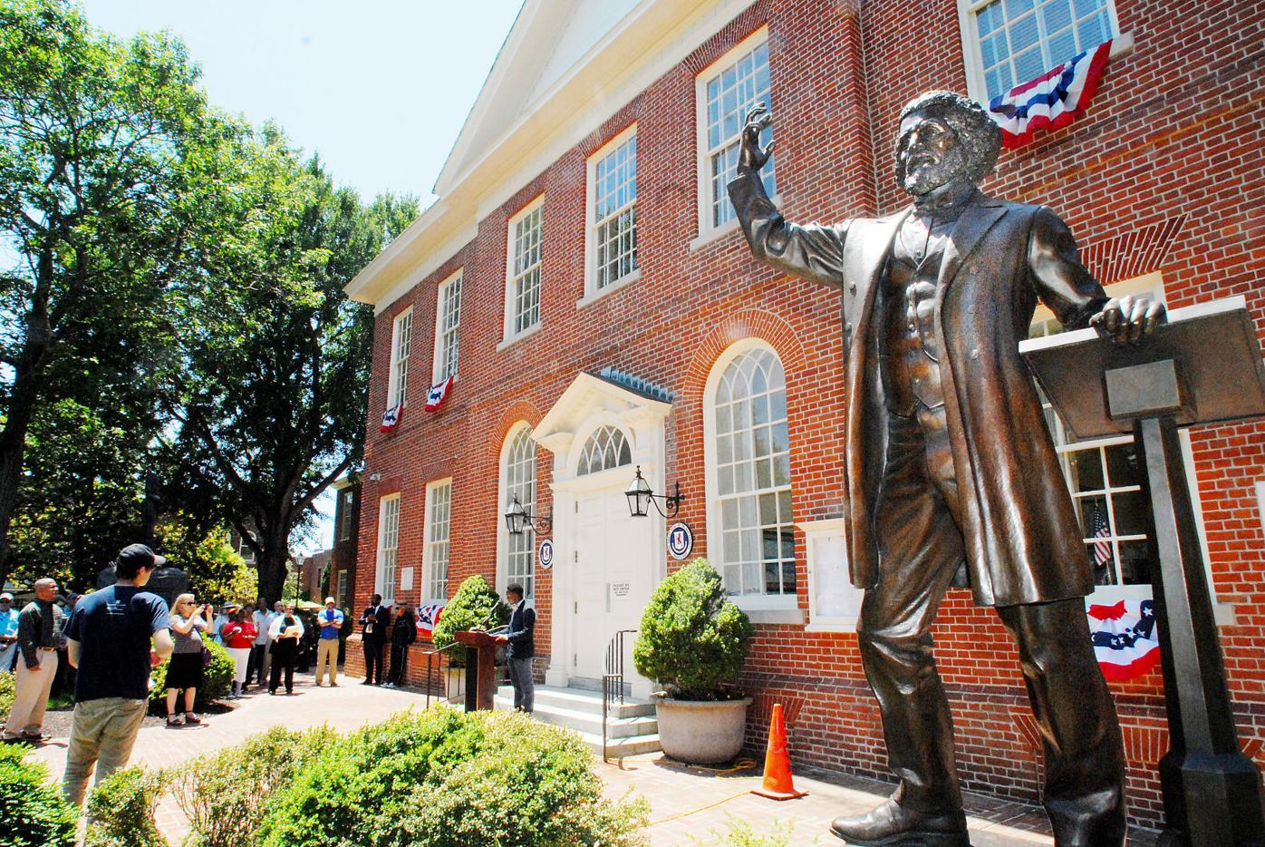 NAACP rallies to remove Talbot Boys statue
