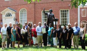 Hogan honors Frederick Douglass Honor Society