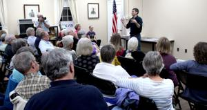 Colvin talks state issues in town hall
