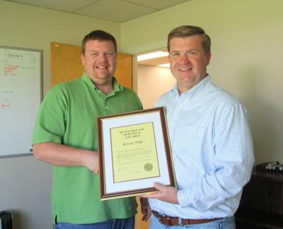 Fike honored for 10 years at The Star Democrat   Business