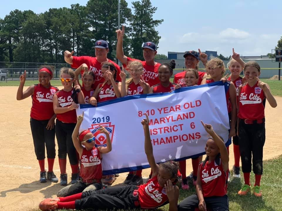 2019 District 6, 8-10 Softball champs: Tri-City