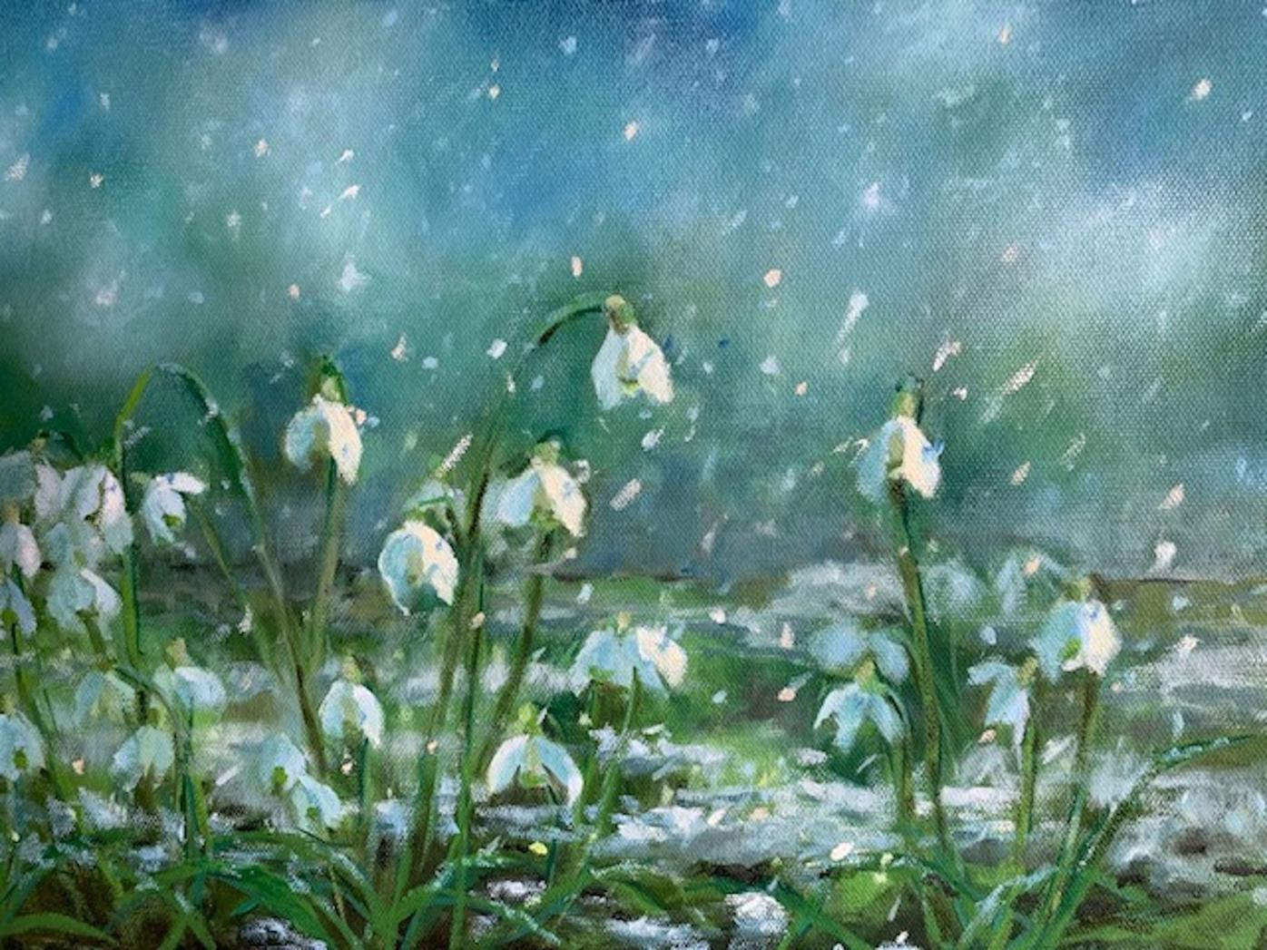 The Artists' Gallery features Mary Ellen Mabe in 'Signs of Spring'