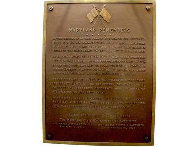Civil War Plaque-Maryland