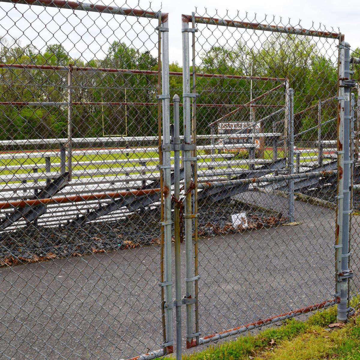easton hs football field fence