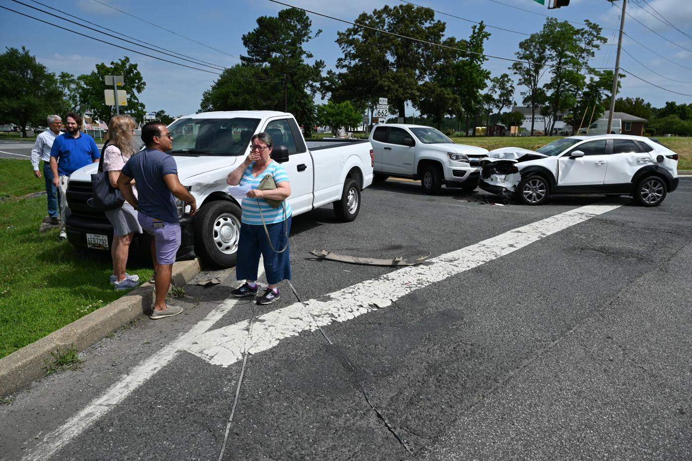 Four cars in Easton bypass accident