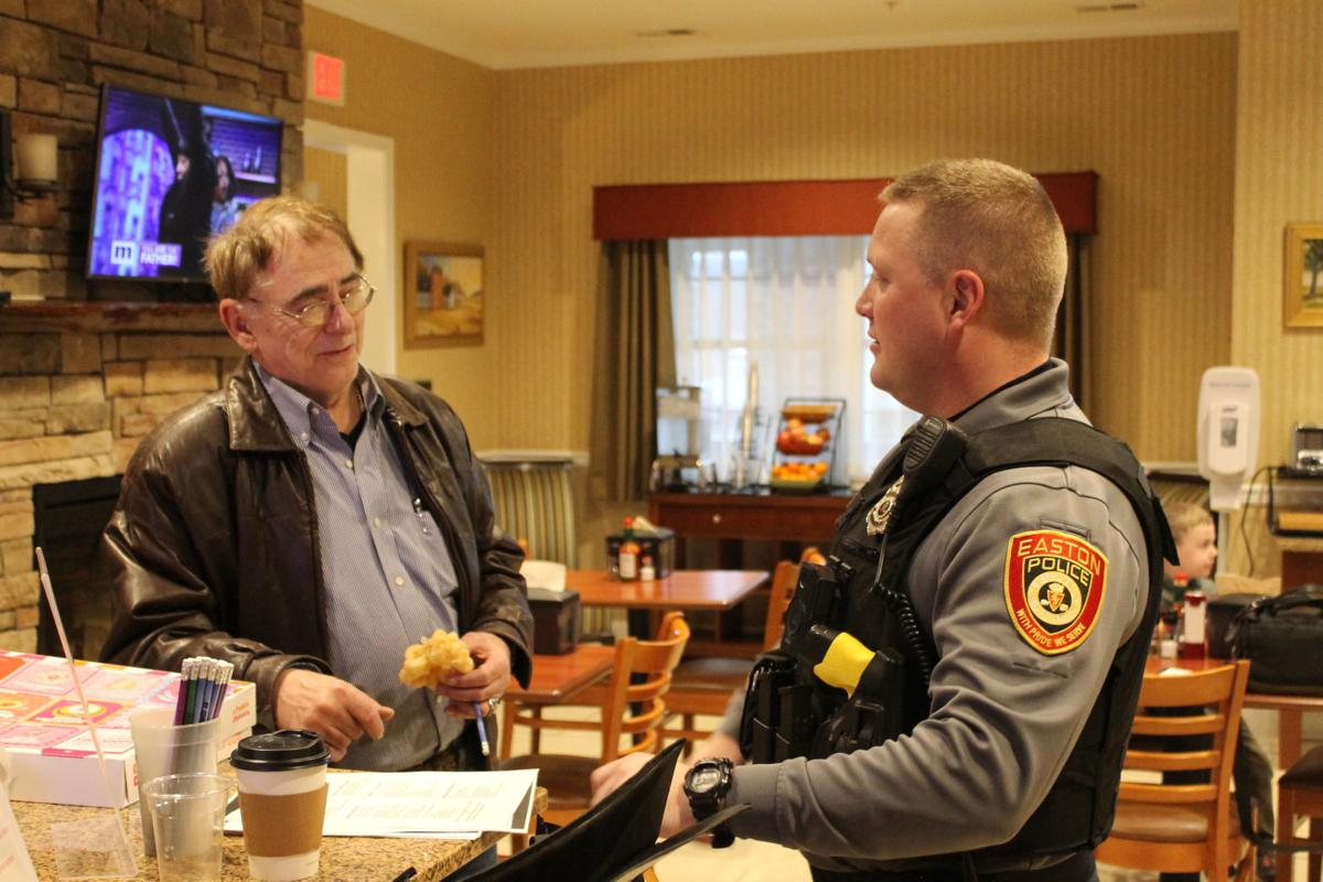 """Talking shop with officers at """"Coffee with a Cop"""""""