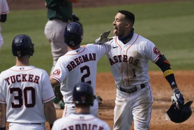 ALDS Athletics Astros Baseball