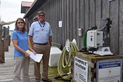 Pump-out station at CBMM helps to keep river clean
