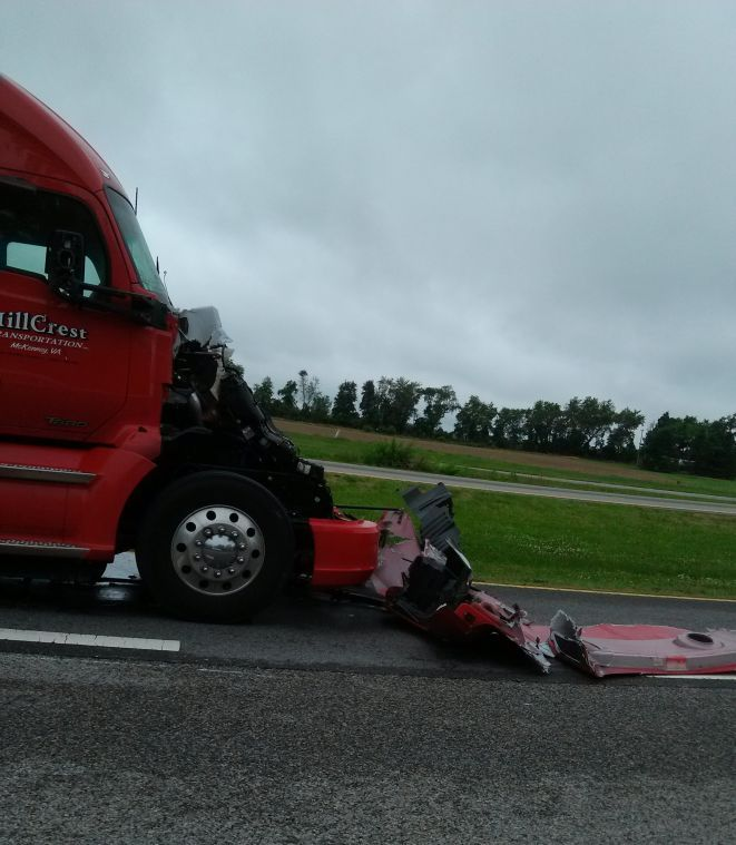 Tractor trailer collision at U.S. 301 and MD-304