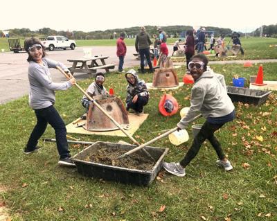 Students build reef balls