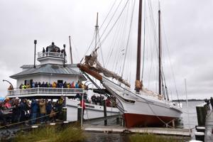 Edna Lockwood relaunched at Chesapeake Bay Maritime Museum