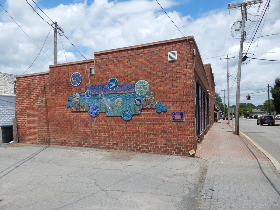 Denton welcomes new water themed mosaic mural