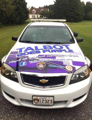 Talbot school resource officers go purple