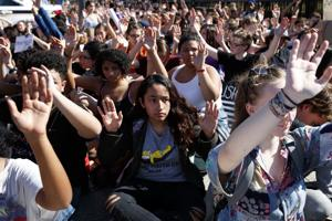 Students across U.S. stage walkouts to protest gun violence