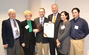 Franchot presents Peters with Schaefer Helping People Award