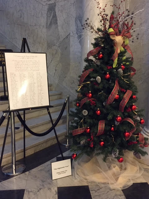 Oxford Garden Club exhibits at State House