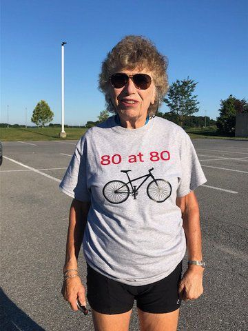 80 year old does 80 mile ride