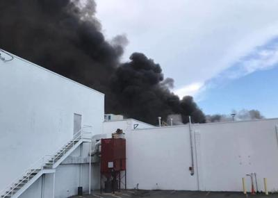 Commercial building fire in Cambridge