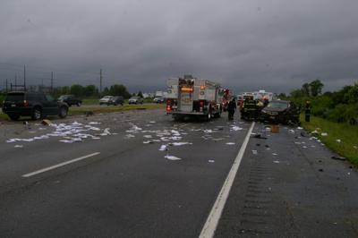 Multi-vehicle accident snags traffic on U S  Route 50 at