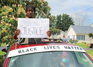 """Prayers for """"peace and love"""" held during North county BLM drive-around"""