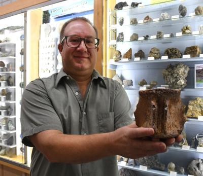 Geologic specimens on display at SU