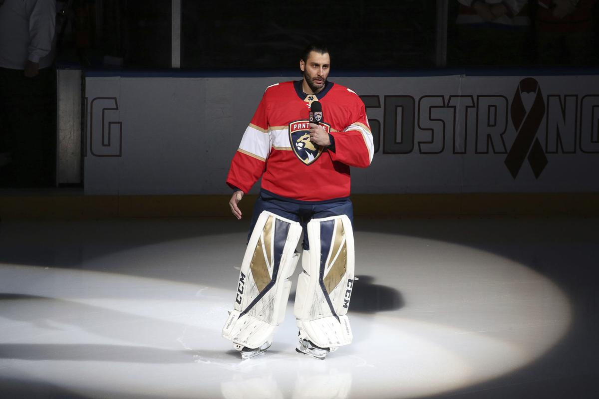 Image result for Panthers and Capitals warm up wearing MSD caps