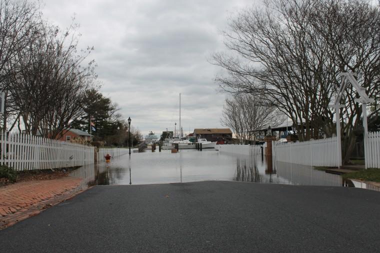 Rainfall floods Bay Hundred