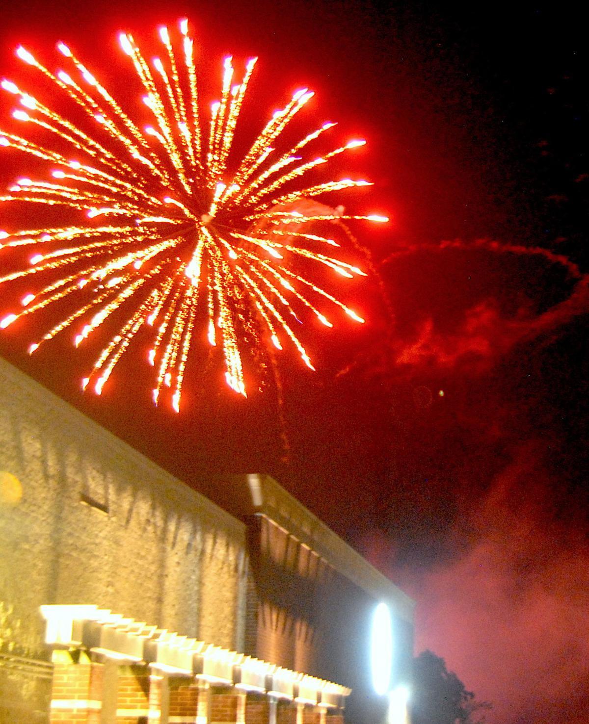 Easton fireworks celebrate the fourth