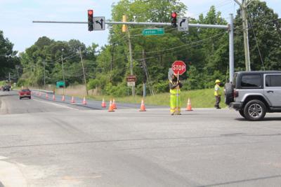 Road work gridlocks intersection