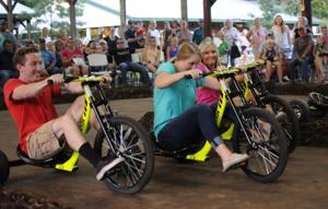 Tricycle race offers thrills and spills