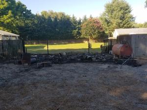 Fire destroys shed in Centreville