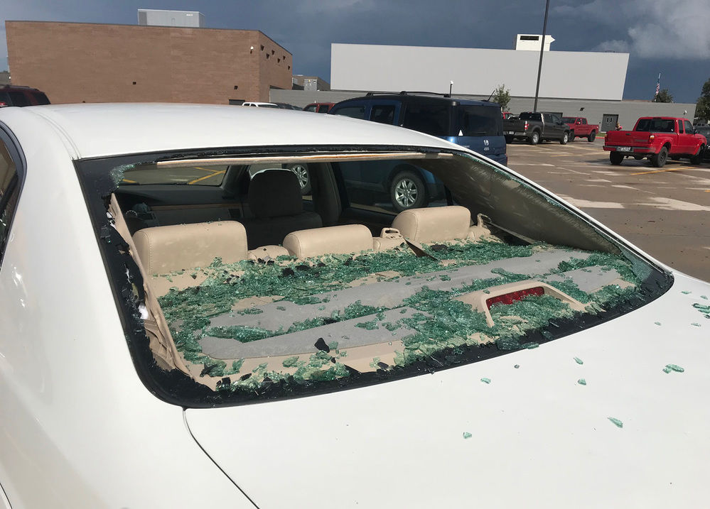 Damage reported in Scottsbluff as hail storm moves quickly through the area