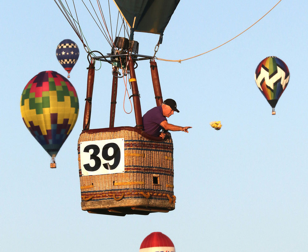 Hot Air Balloon Competition begins: National balloon pilots hit target at soccer field