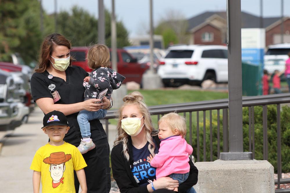 Wyoming Air National Guard flies over Torrington's Banner Health Community Hospital