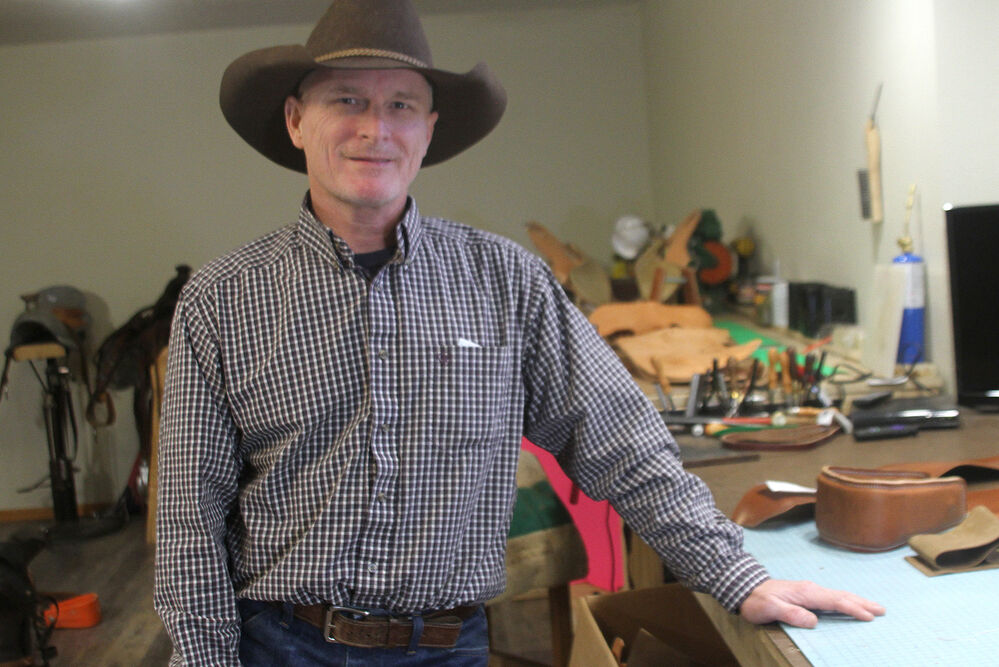 Joe Roberts works on his own terms, remaking history with saddles