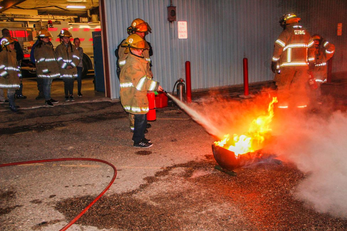 Fifth grade students participate in junior fire patrol