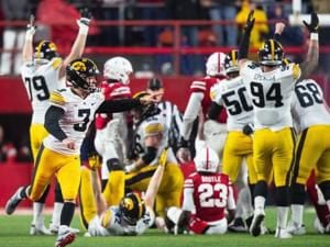 Was he mocking the Huskers? Iowa's kicker says he was 'just having some fun'