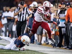 Huskers had their struggles, but pull within one score of Illinois at halftime