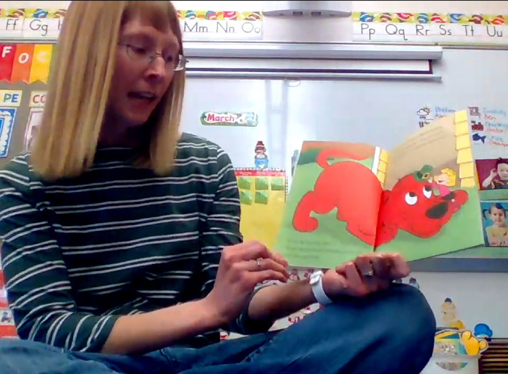 POSITIVE PEOPLE Teachers continue reading to students