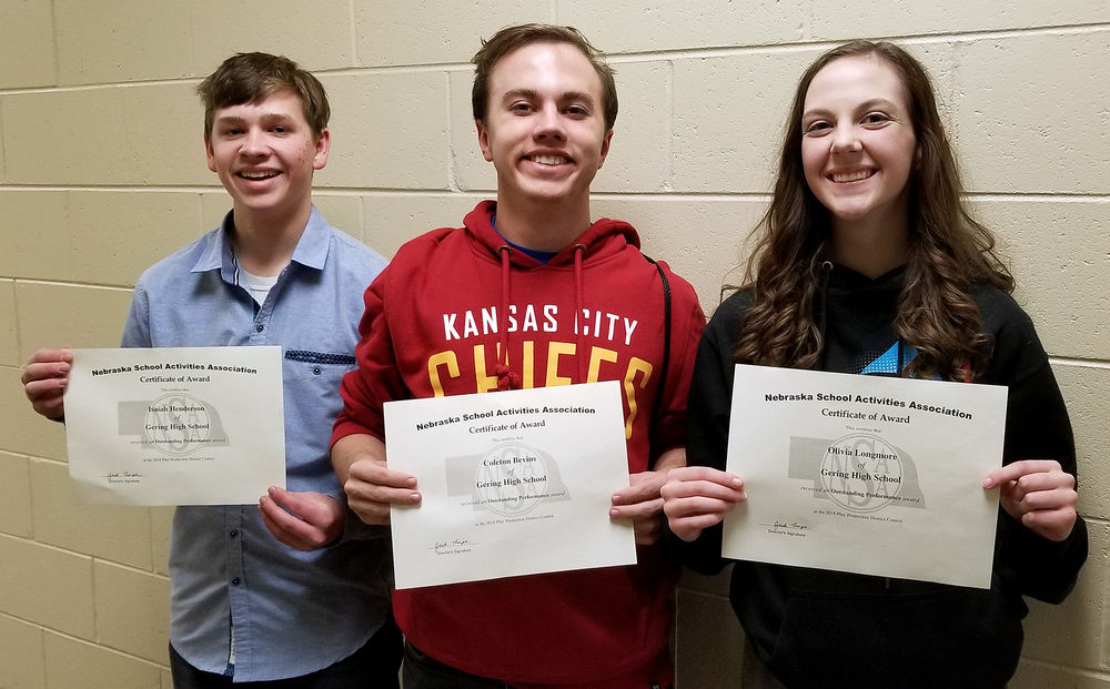 Sidney hosts district one-acts, Gordon-Rushville named district champion